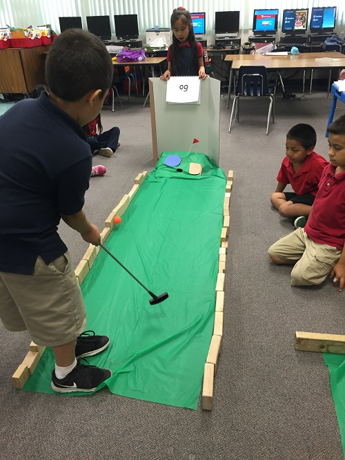Mini Golf End-of-Year Review - Word Families