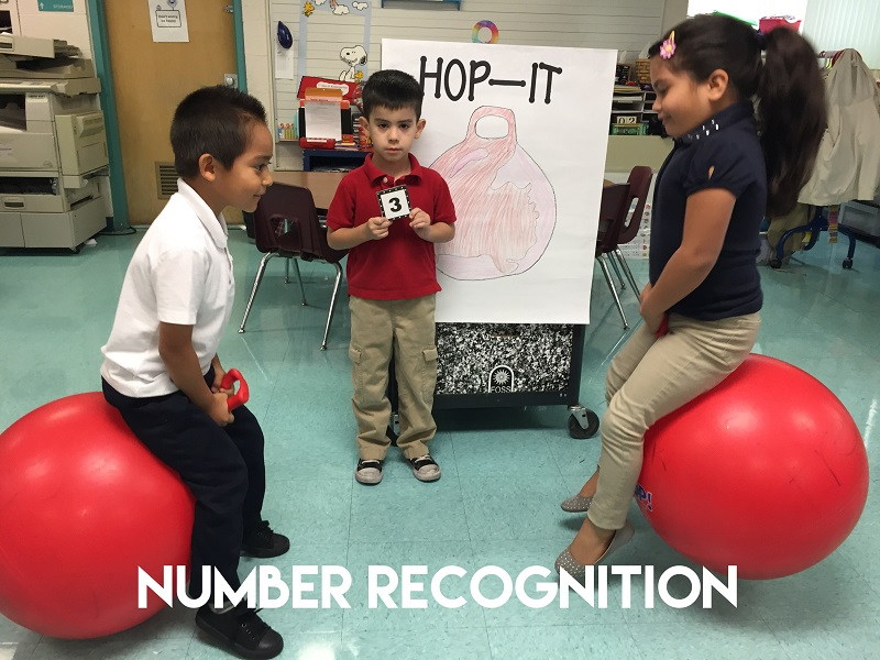 Fun Math Games: Number Recognition Hop Ball