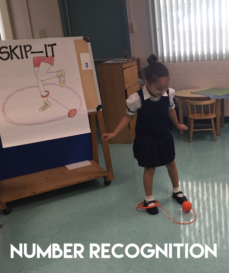 Fun Math Games: Number Recognition Skip Ball