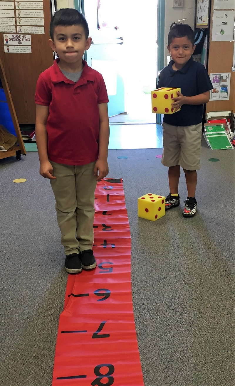 Kindergarteners Being Playful: Walking a Number Line