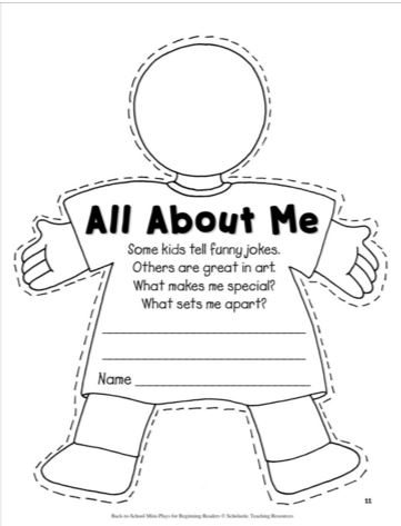 "Scholastic Printables: ""All About Me"""