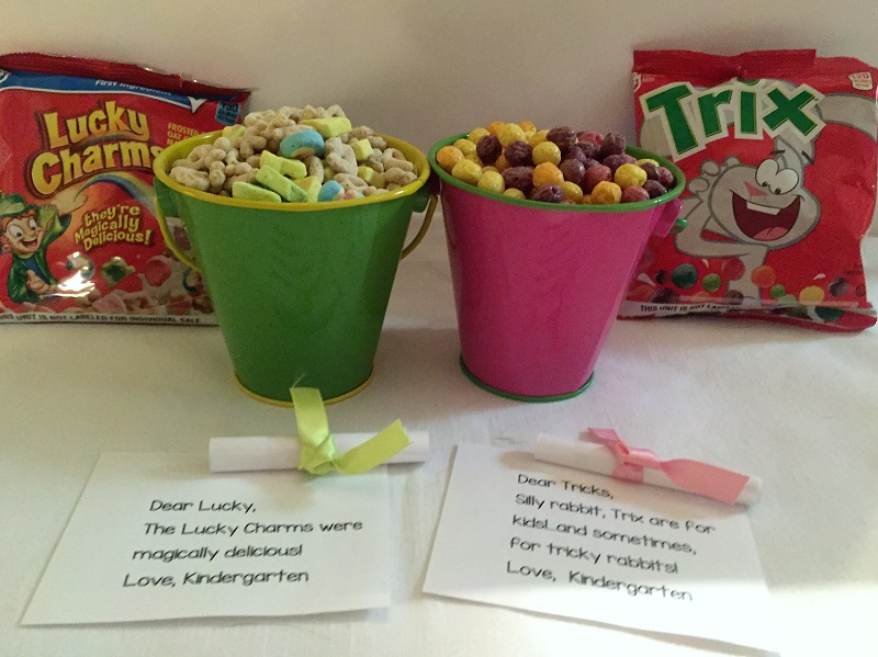 St. Patrick's Day Lucky Charms and Easter Trix