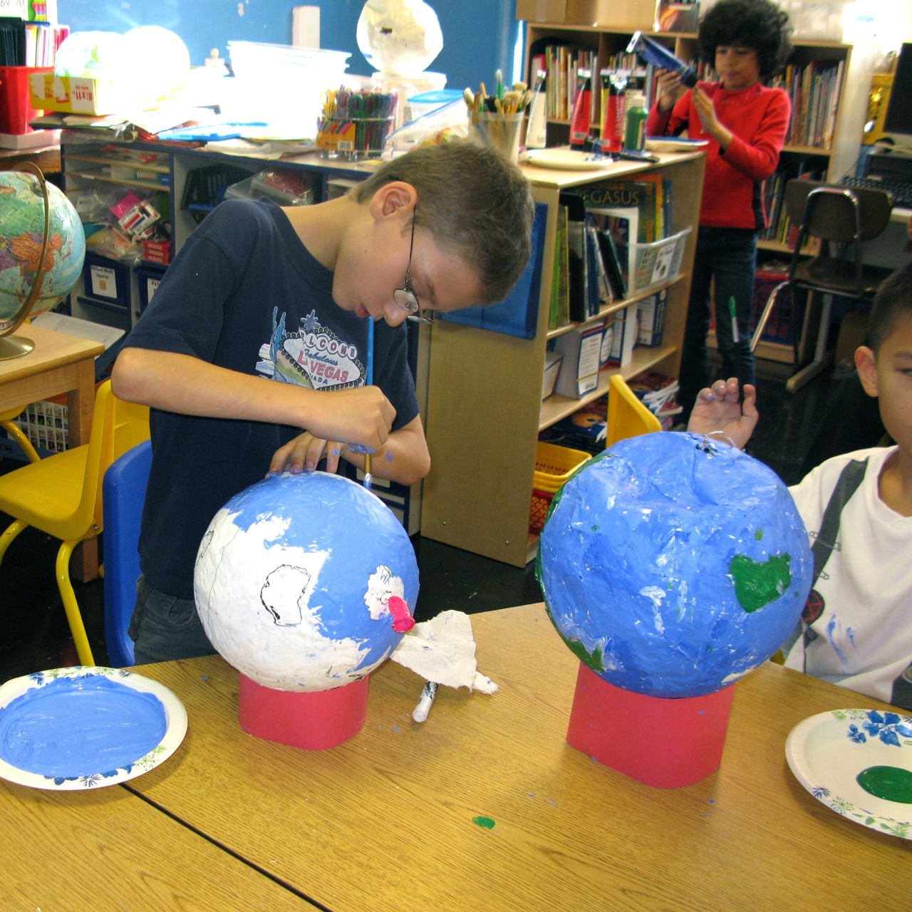 Five projects to juice up geography scholastic for Paper mache activities