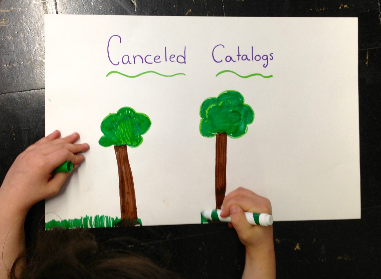Canceling Catalogs = Saving Trees = An Easy Earth Day Project