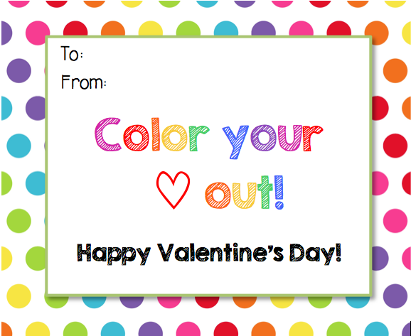 picture about You Color My World Printable titled Semi-Home made Valentines for Fast paced Academics Scholastic