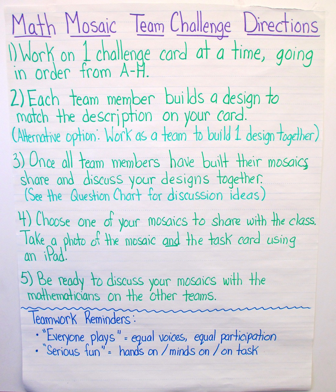 chart paper for teachers Each note has a quick checklist, so that the teacher may note why the student has  unfinished work  i saw this idea here on pinterest made on chart paperso i.