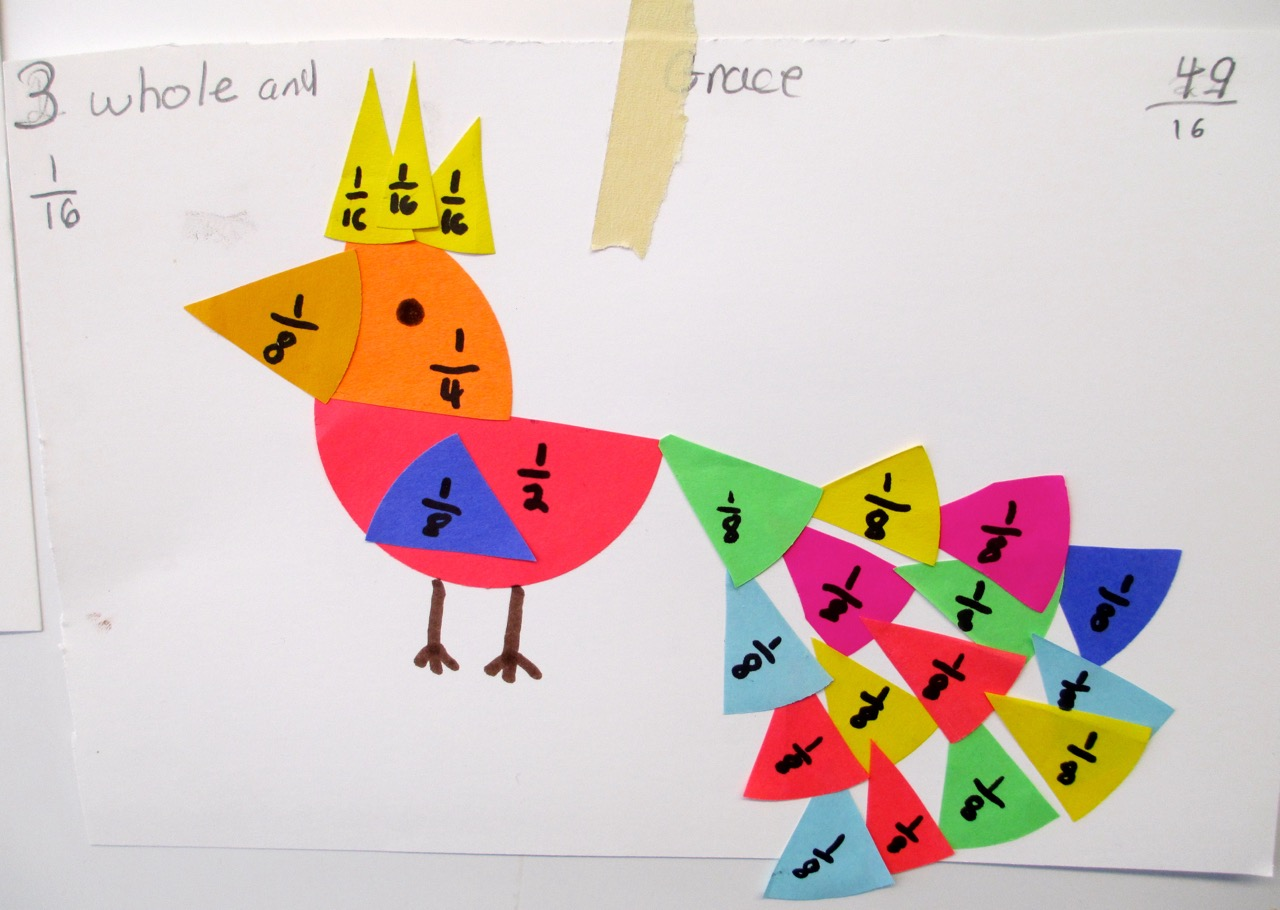 An improper fractions and mixed numbers menagerie scholastic for Craft work for class 3