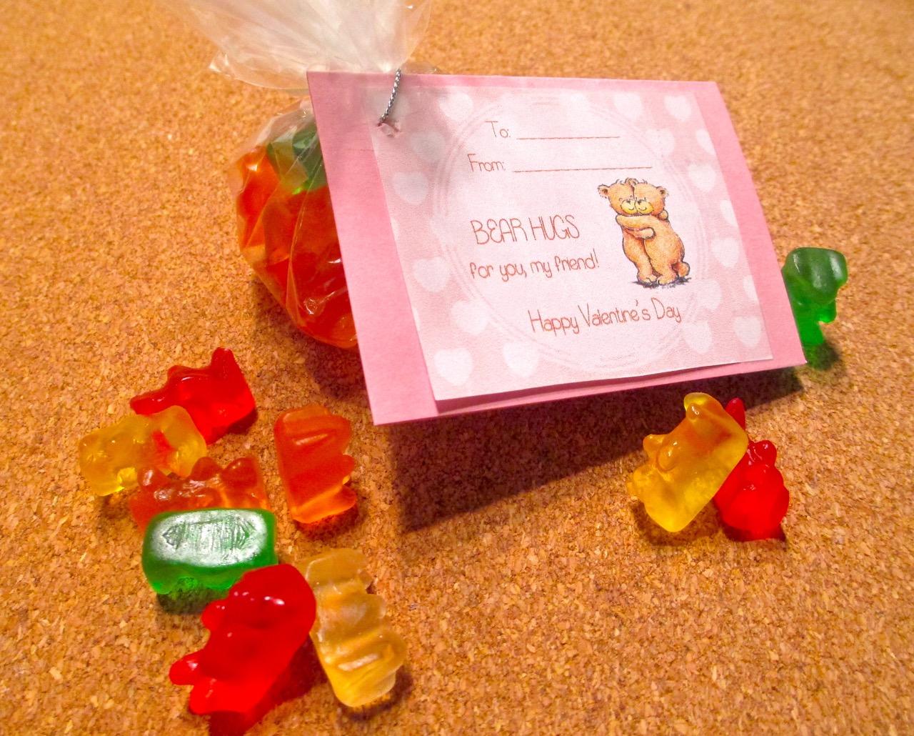 Semi Homemade Valentine 1: Gummy Bear Hugs