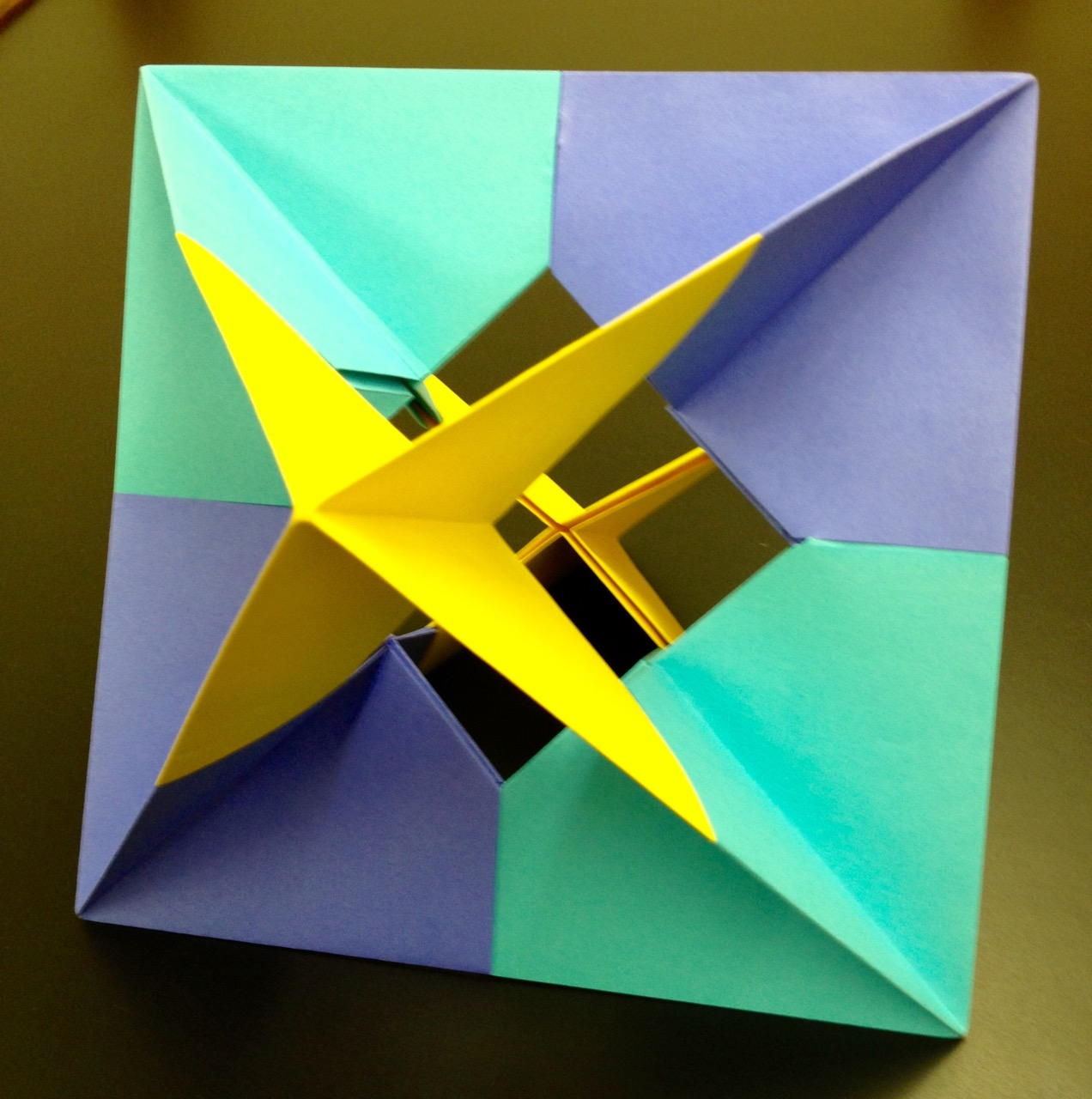 Teaching math with modular origami scholastic for Craft work with paper folding