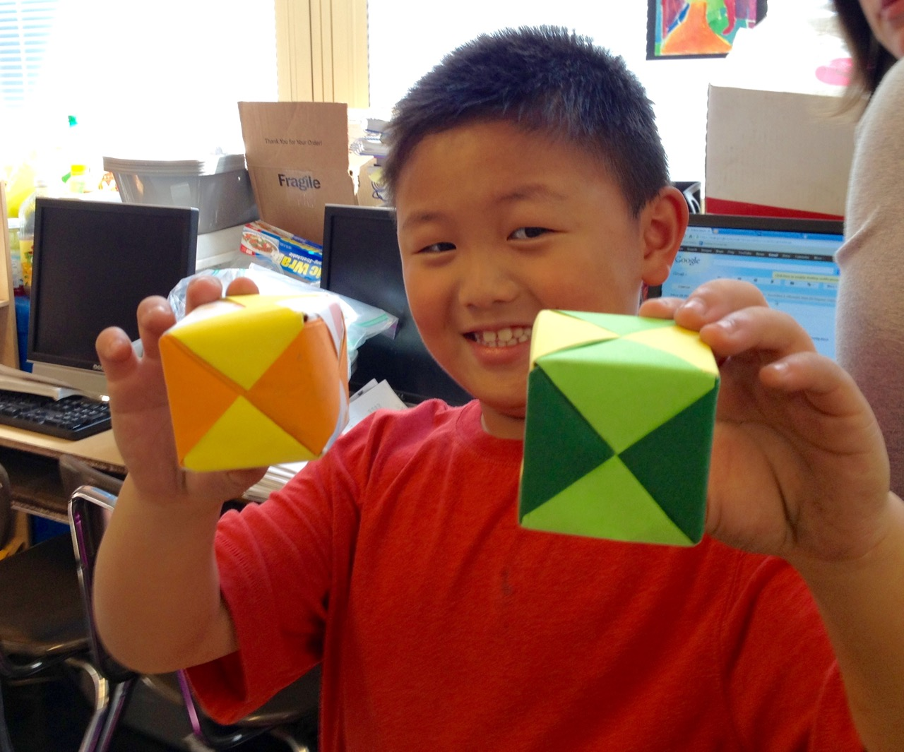 Teaching Math With Modular Origami Scholastic Free Diagrams Instructing You How To Fold Unit Models What Is