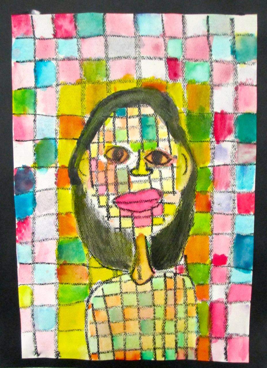 how to draw a self portrait kids