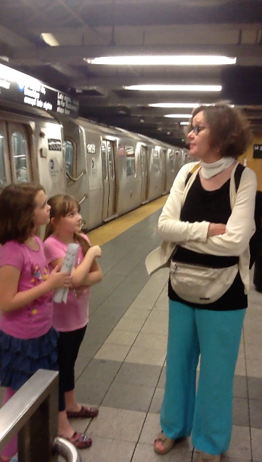 Interviewing in the subway station
