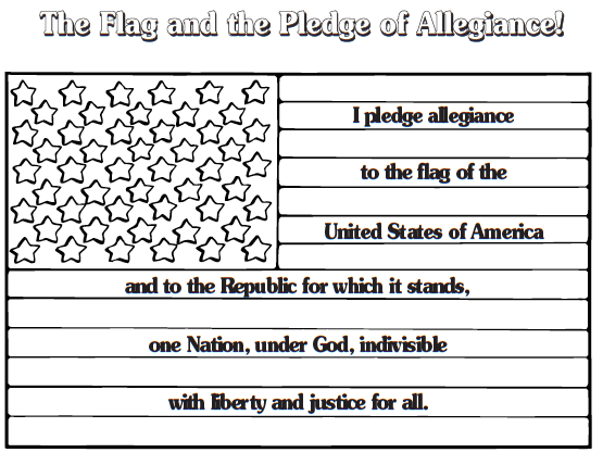 Surviving the first day scholastic for Pledge of allegiance coloring page