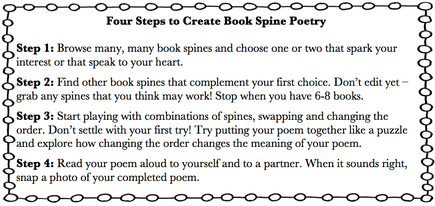 poetry booklet template - super simple book spine poetry scholastic