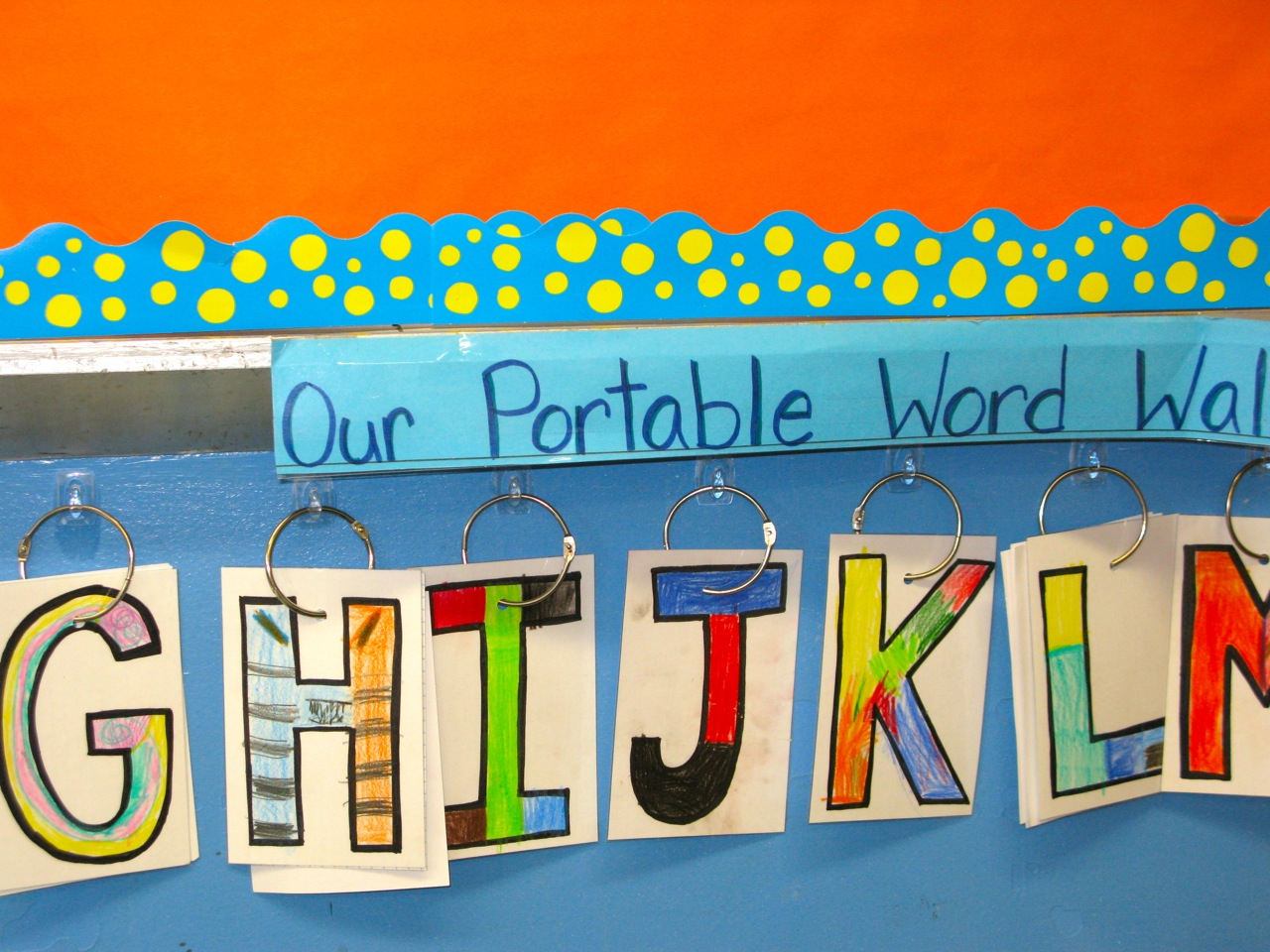 Our portable word wall.