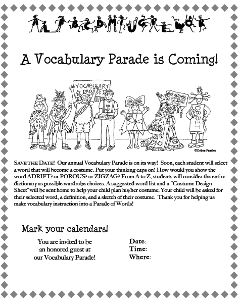The Vocabulary Parade: A Better Reason to Dress Up ...