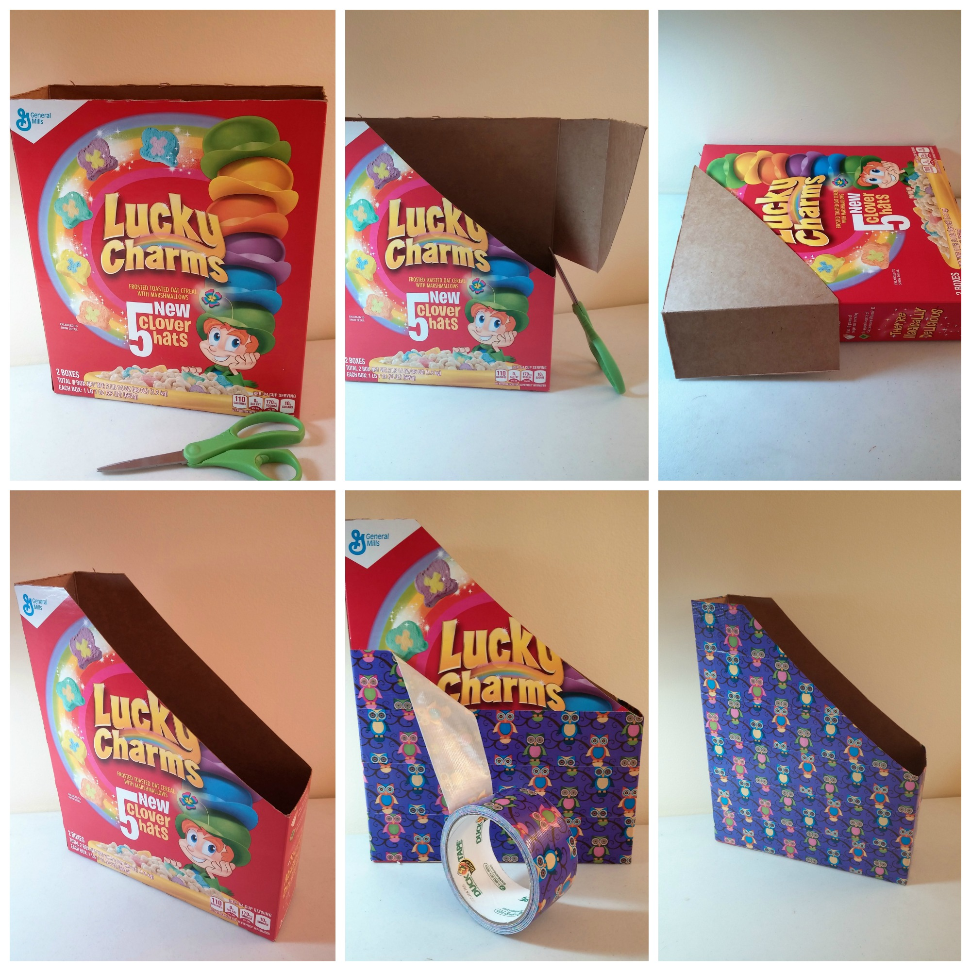 Steps To Make A Cereal Box Magazine File