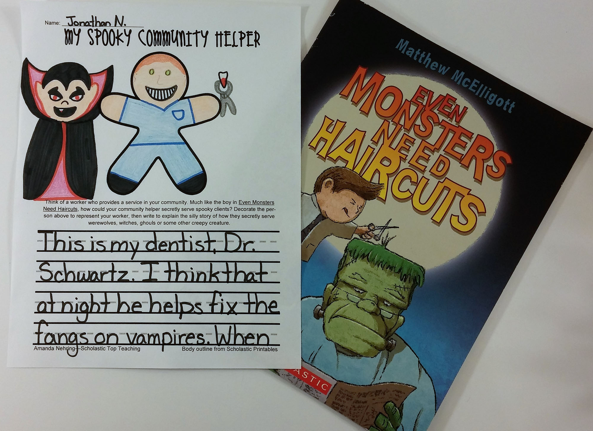 Have your students do this writing craftivity after you read the story.