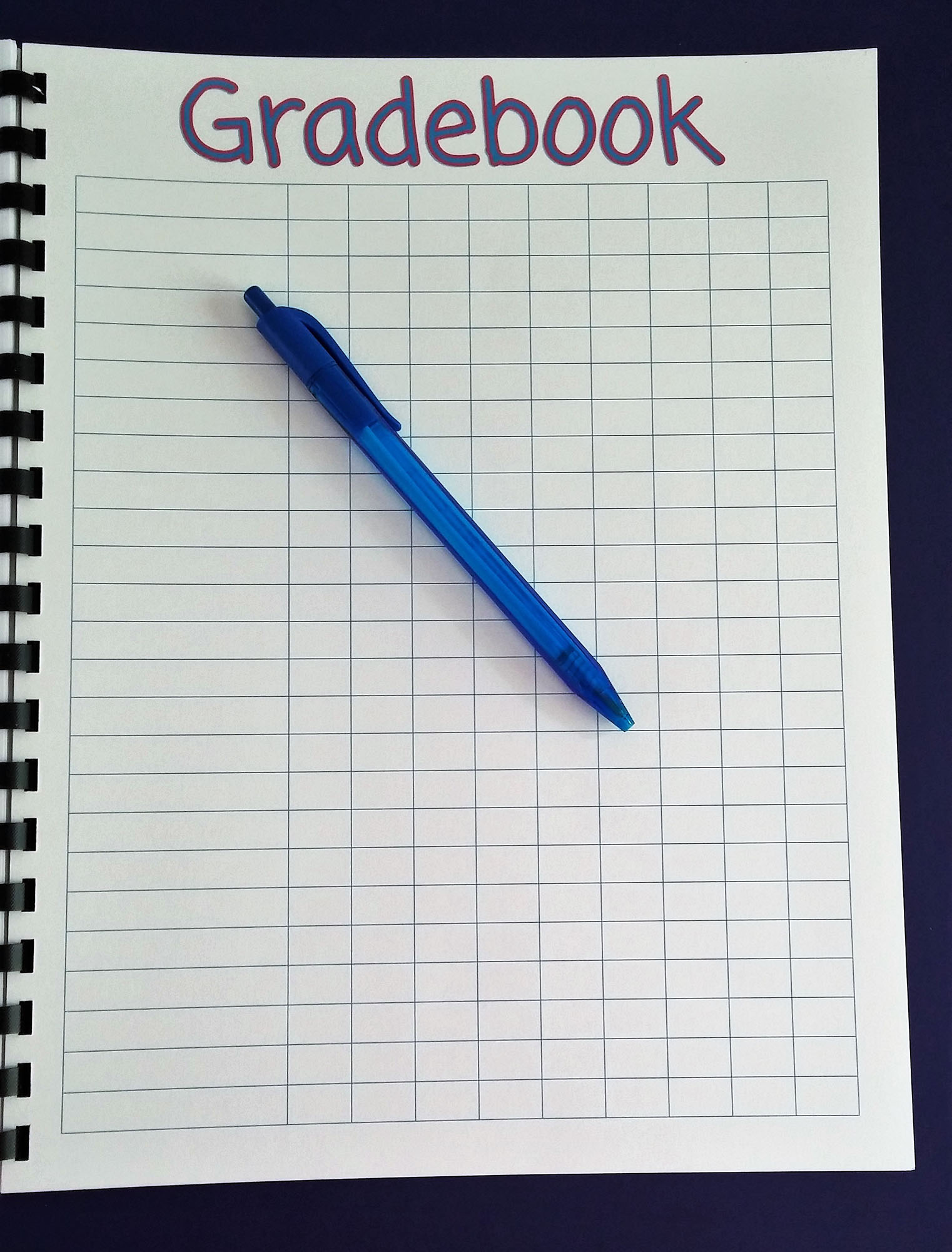 It is an image of Decisive Printable Grade Book