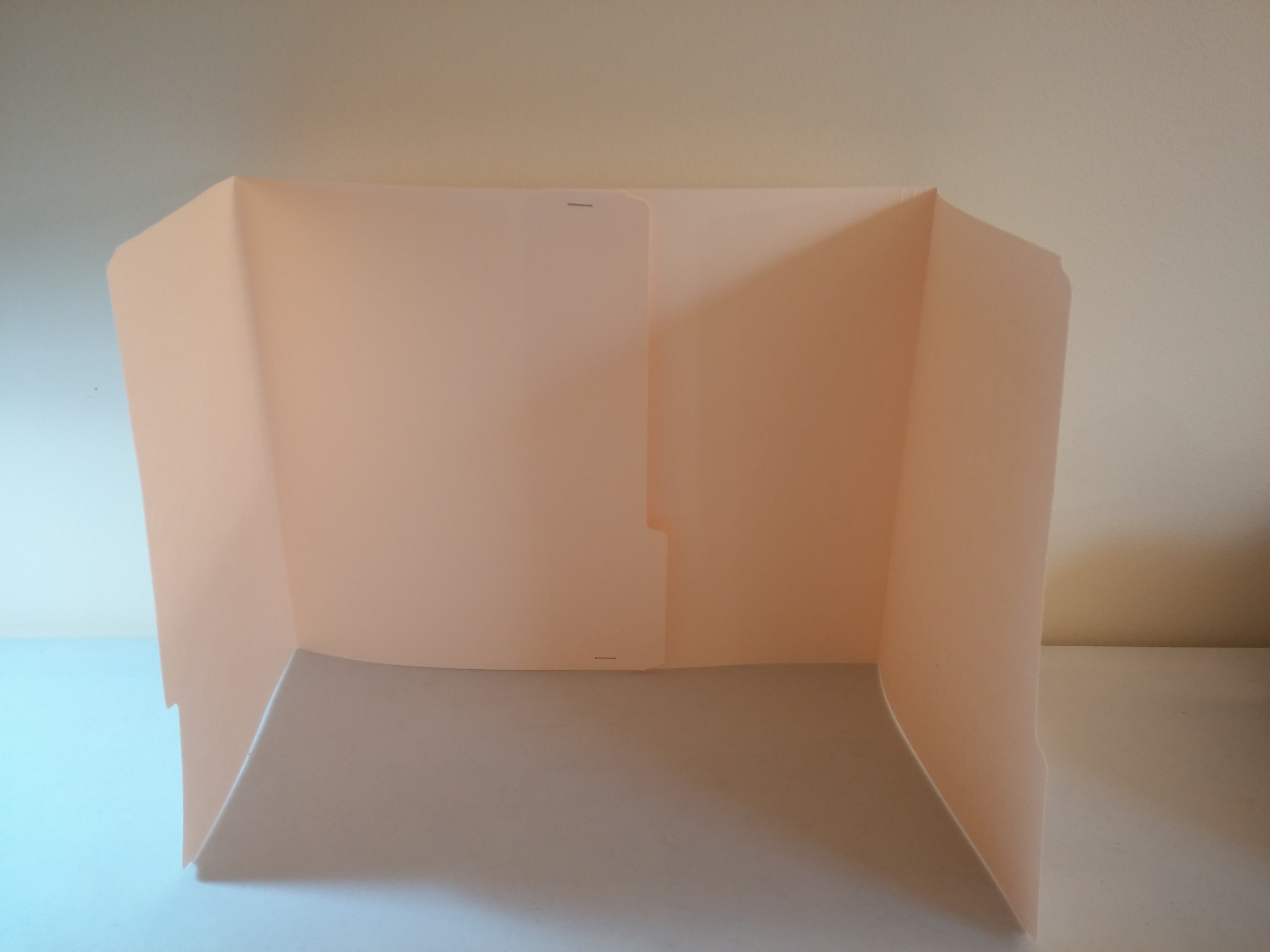 Manila folder privacy dividers