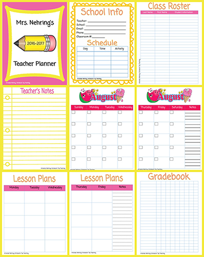 graphic about Printable Gradebook Pages identify Printable Trainer Planner Scholastic