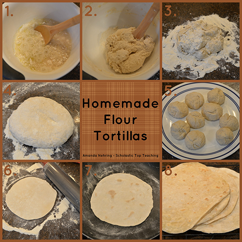 Steps to making homemade tortillas