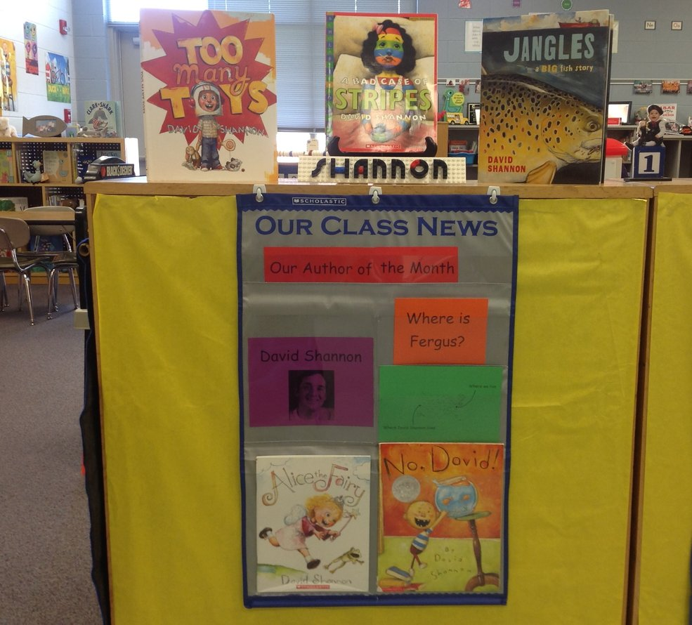 David Shannon's Author of the Month Display