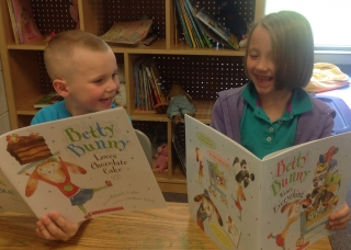 Landon and Taren Reading