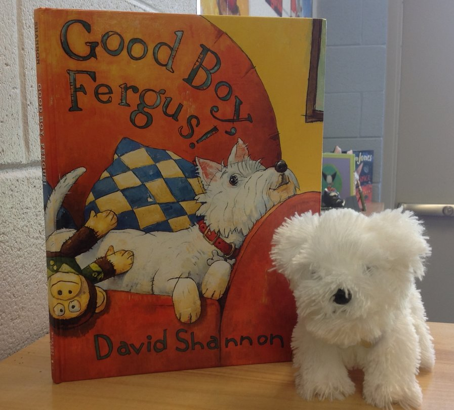 Good Boy Fergus book and plush