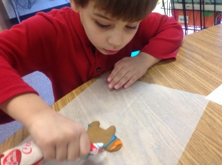 Ethan Decorating Gingerbread Man