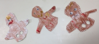 Student's Gingerbread Man Finger Puppets