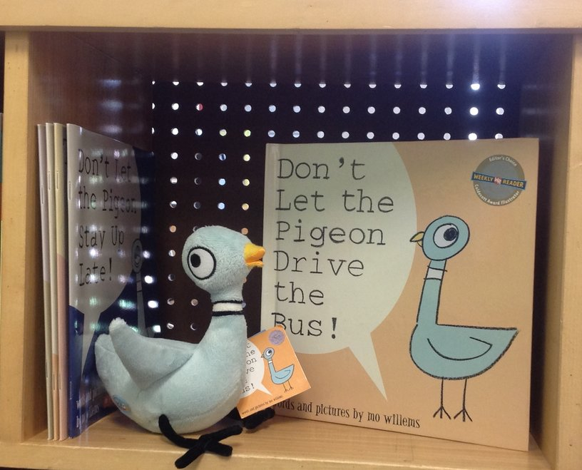 Pigeon books and plush