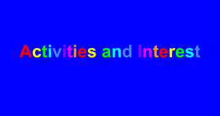Activities and Interest Banner