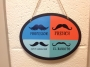 Sign showing different mustaches