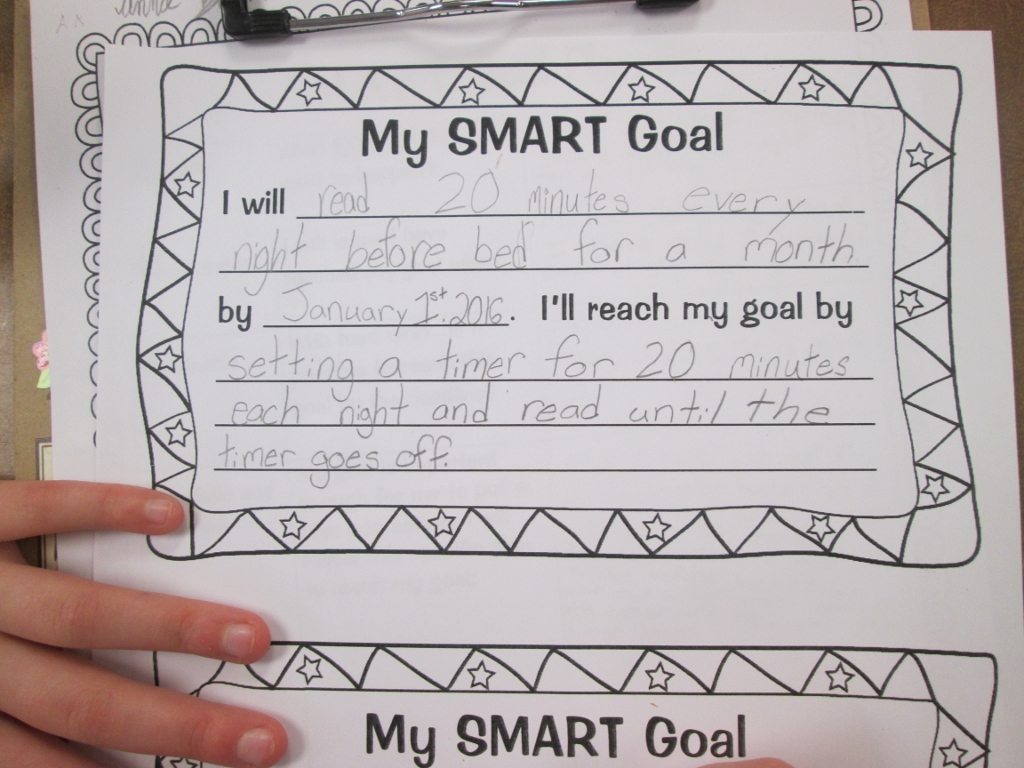 setting almost smart goals my students scholastic students used the bottom of the sheet to write a second personal goal