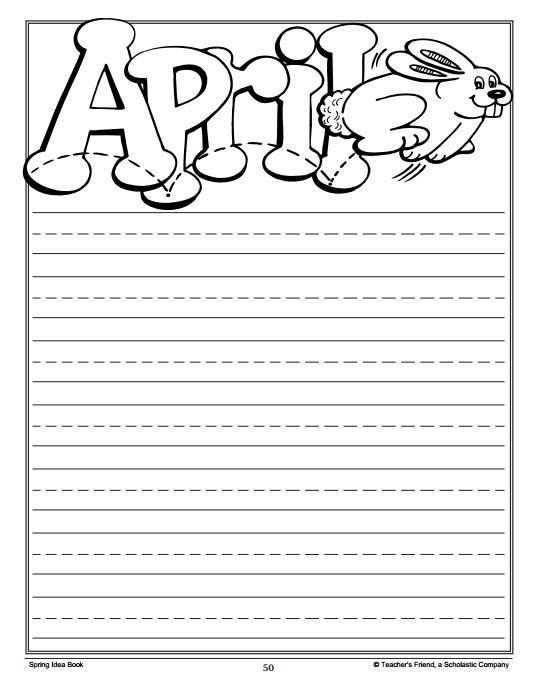 spring writing paper for kids Spring break writing spring break graphic organizer and writing paper  write  on: getting kids started writing stories in kindergarten (free rubric.