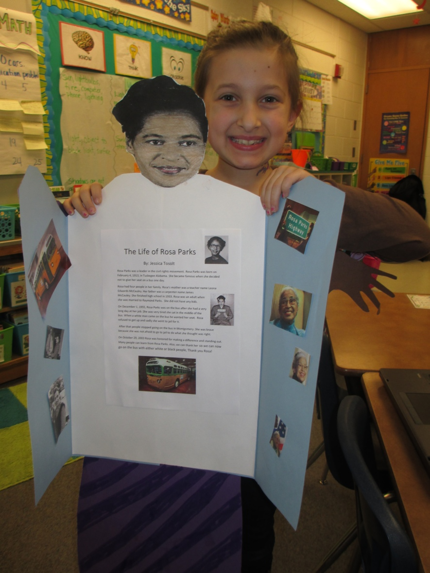black history month and presidents day biography reports scholastic the report went front and center and additional pictures they wanted to use went inside the jackets