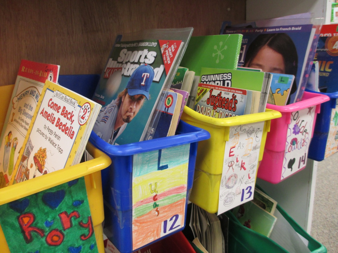 organize your bookboxes with a variety of reading materials