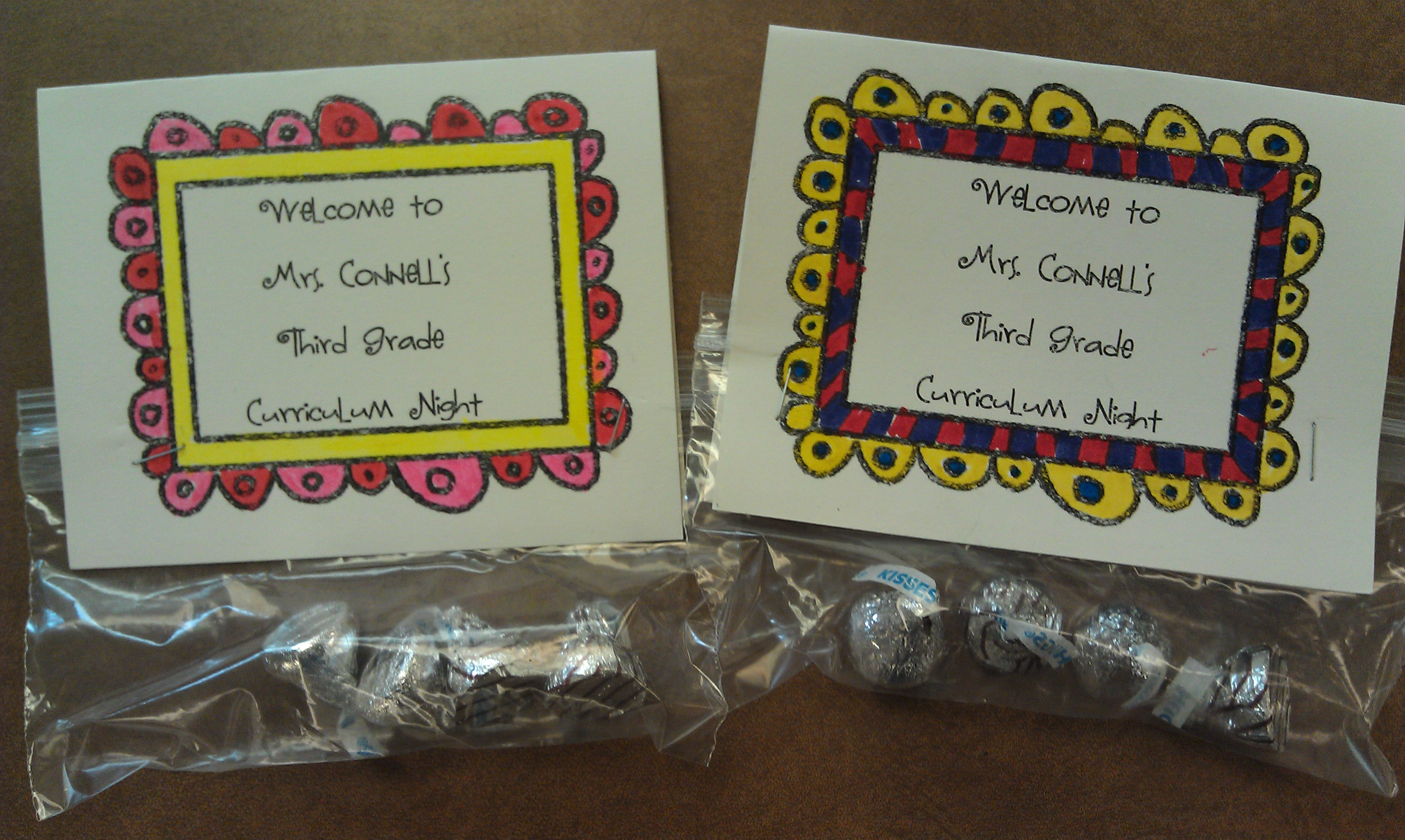 candy wrappers for curriculum night