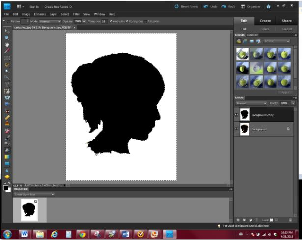 how to make a silhouette out of a photo