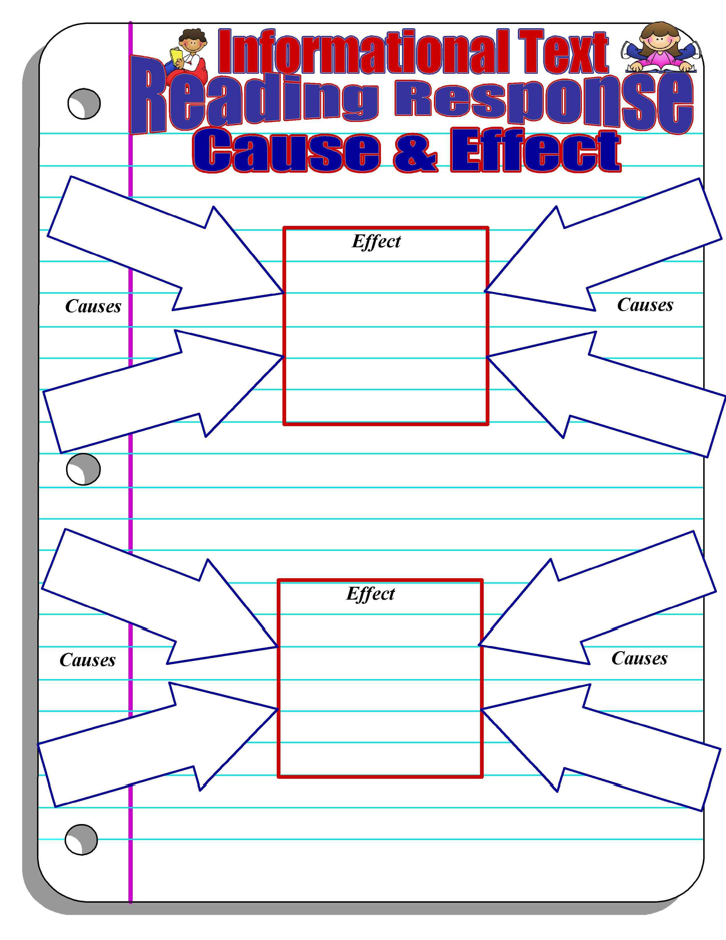 Gutsy image for cause and effect graphic organizer printable