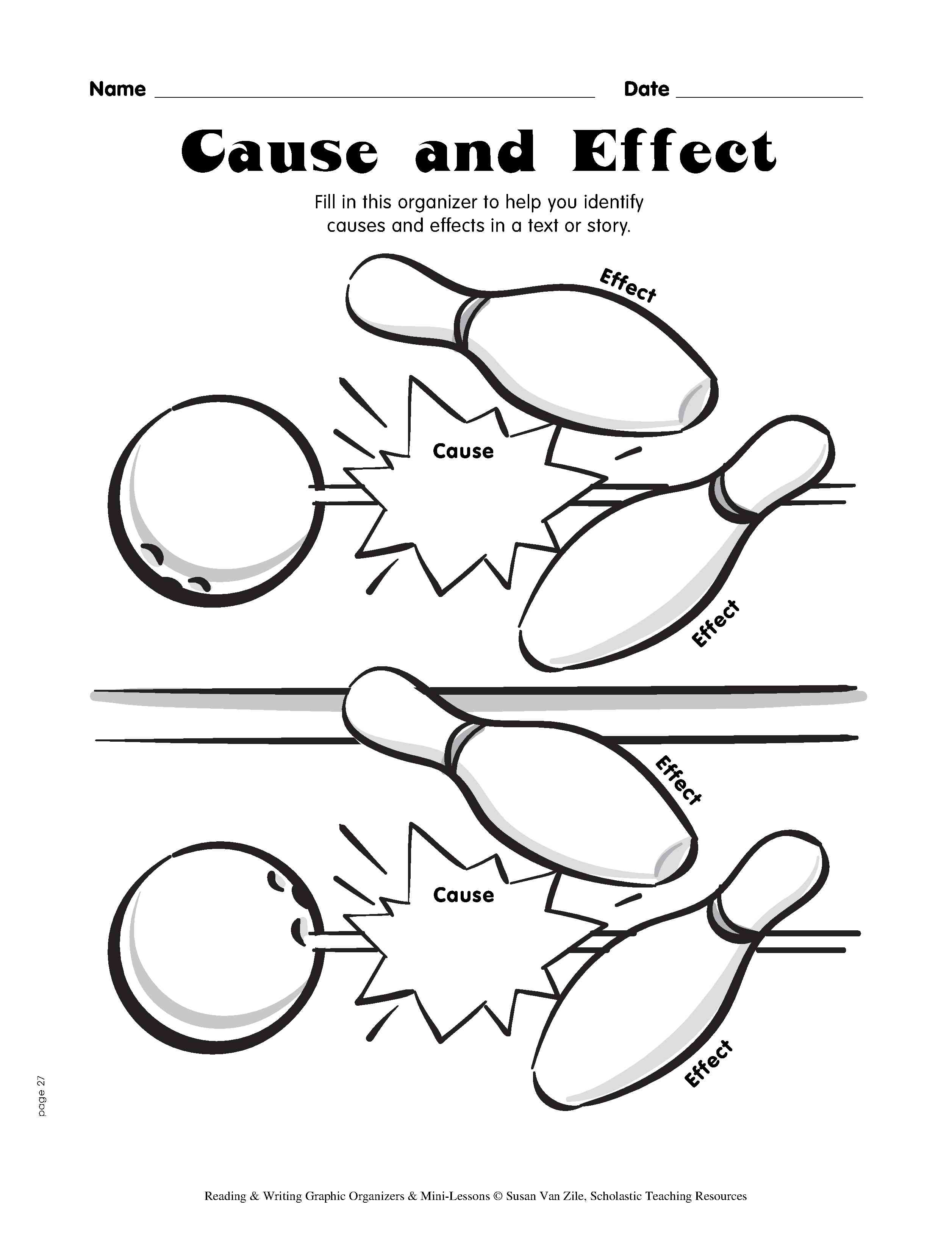 cause and effect bowling