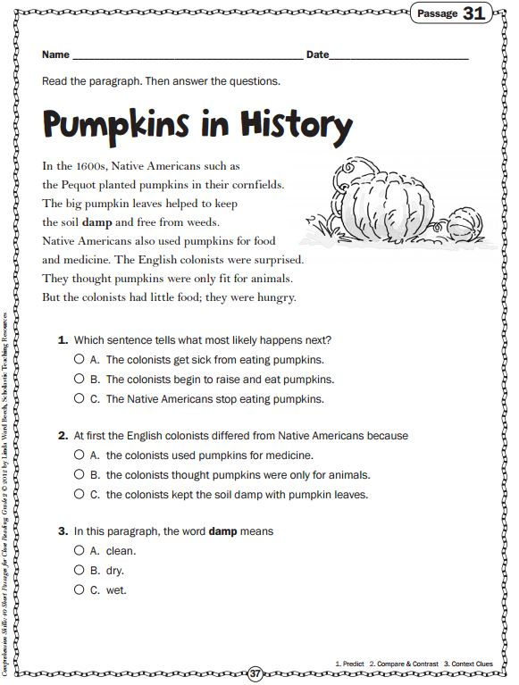 scholastic reading comprehension activities pdf