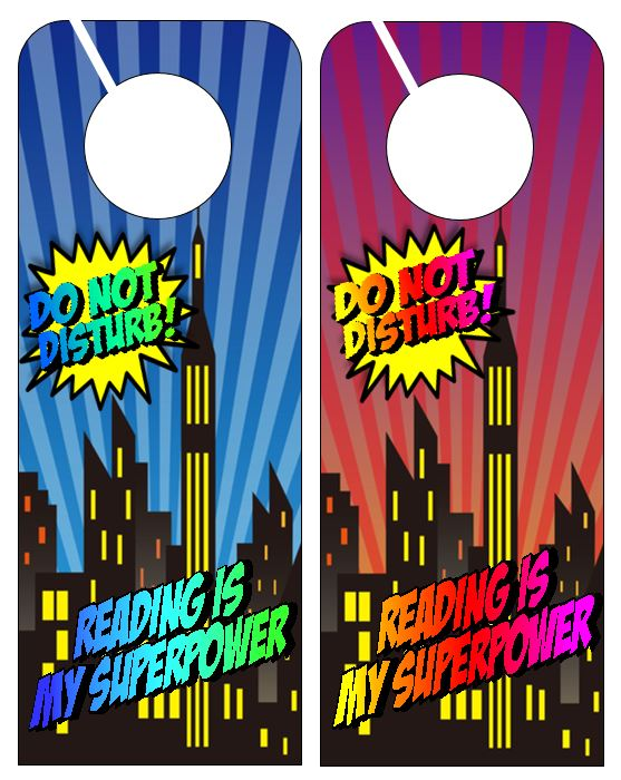 Door hangers from Genia Connell at Scholastic Top Teaching