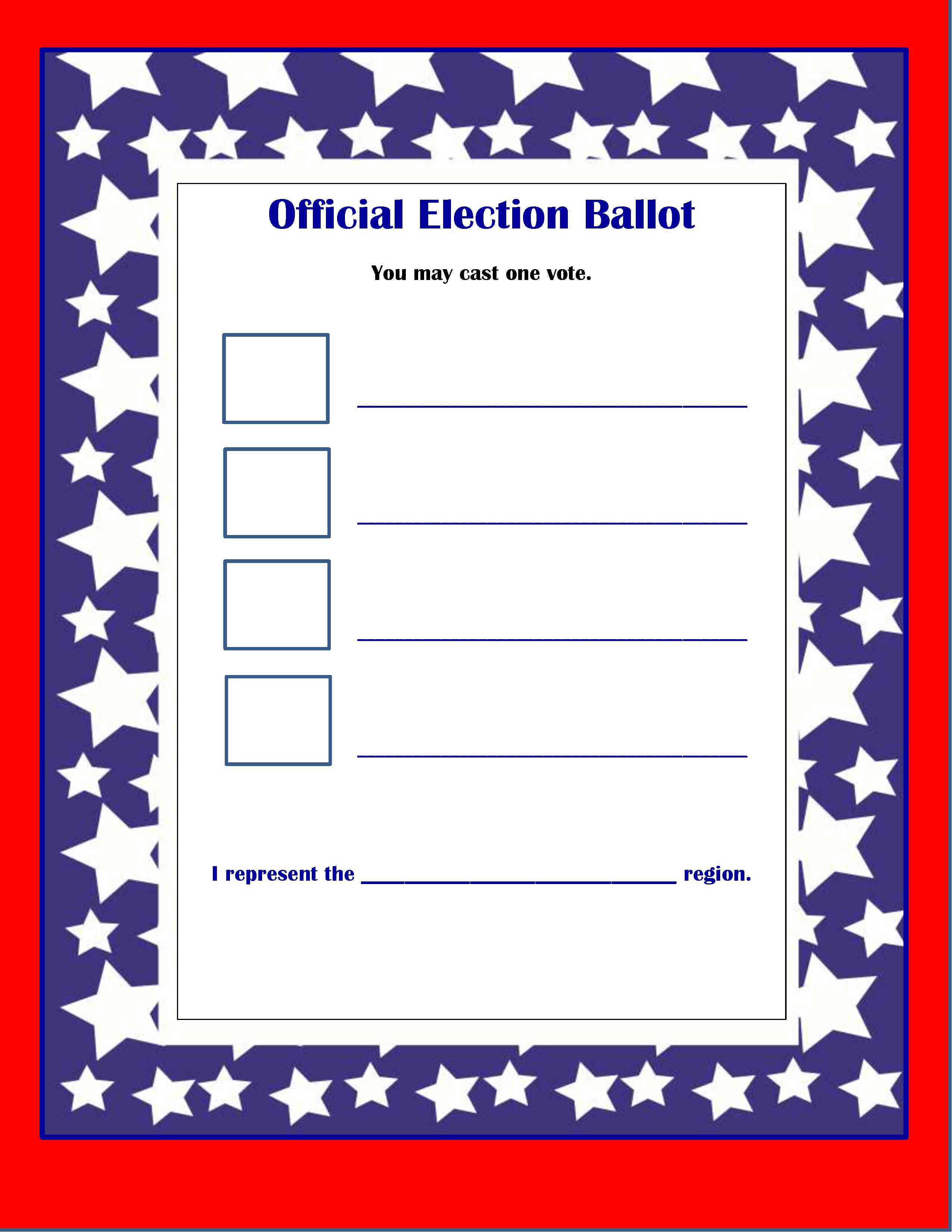 It is a photo of Dynamic Printable Ballots for Voting