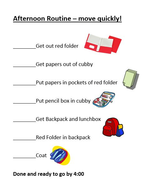 homework checklist form