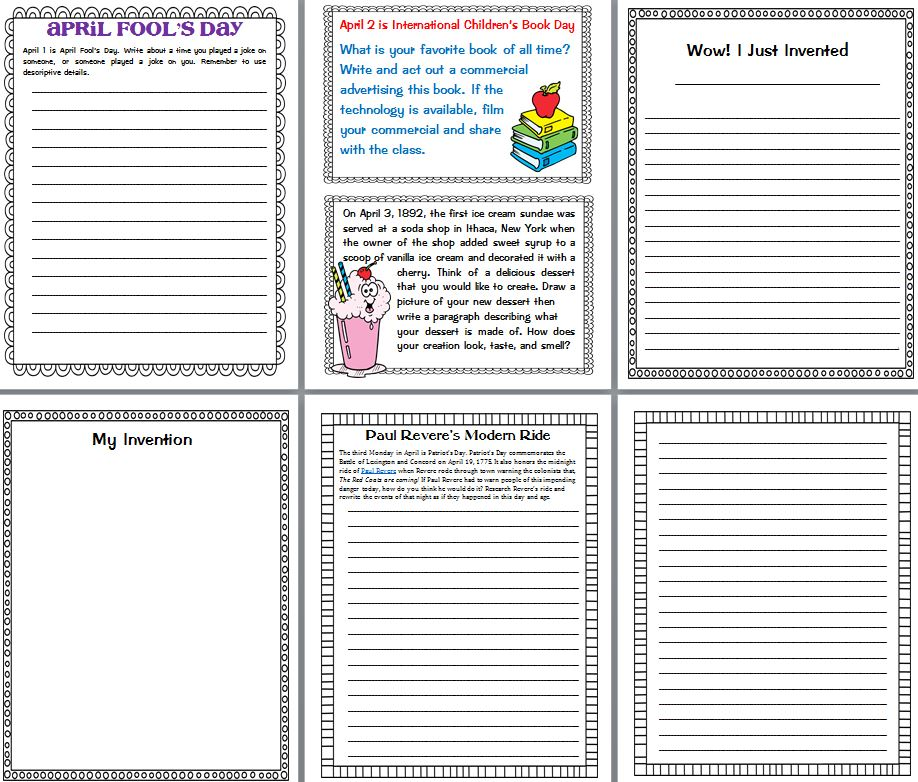spring writing paper for kids