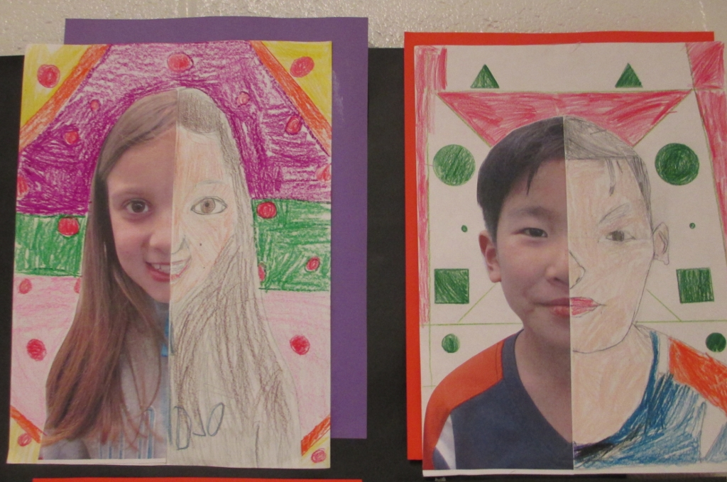 Drawing Lines Of Symmetry On Shapes Worksheet : Math meets art symmetry self portraits scholastic