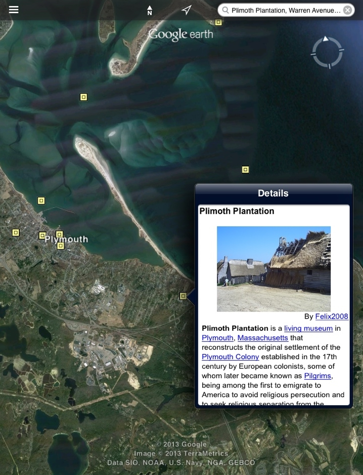 google earth plimoth plantation
