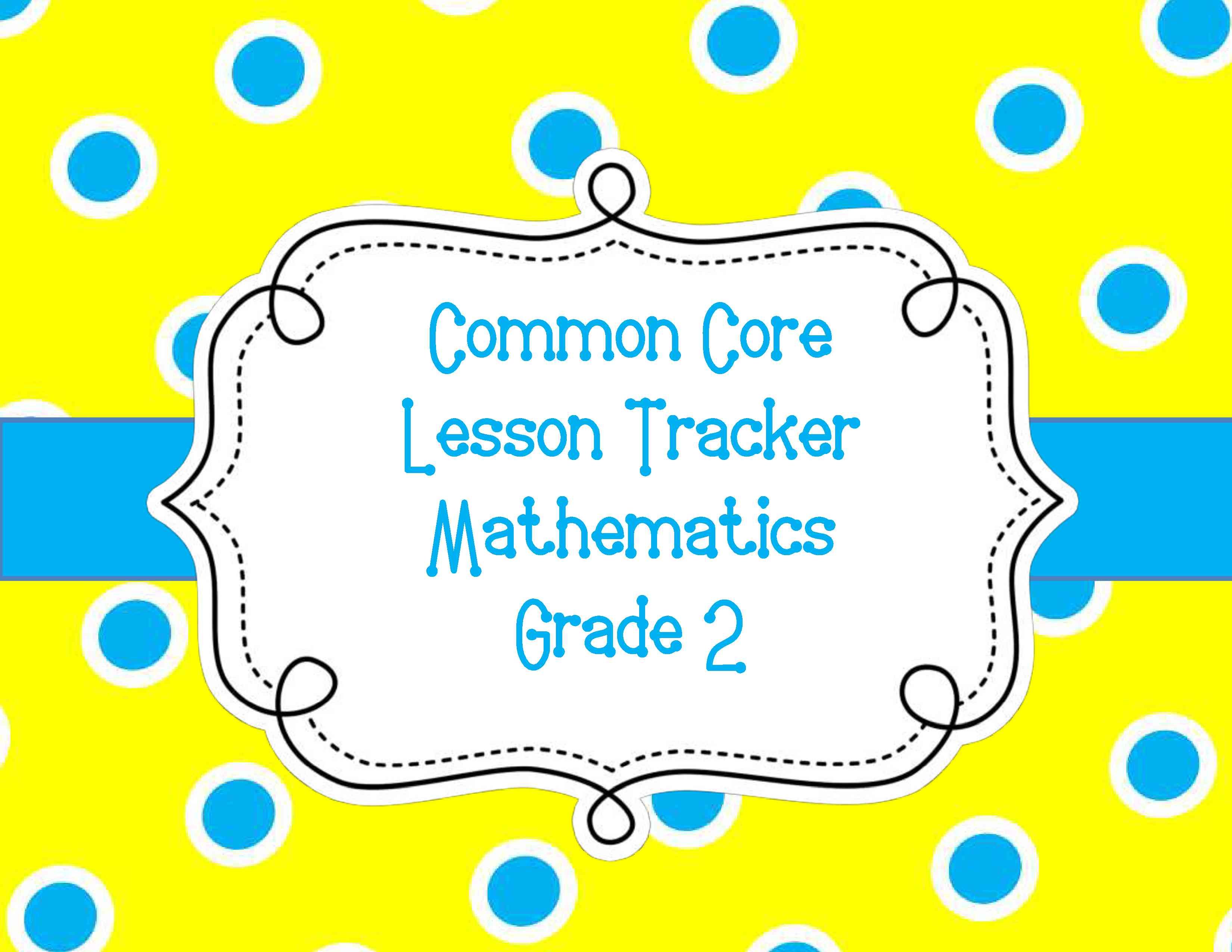 Common Core Lesson Plan Organizers for Math and ELA – Sample Common Core Lesson Plan